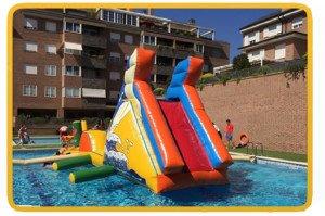 Plataforma piscina tobogán 9,5 x 2,1 x 4,5m