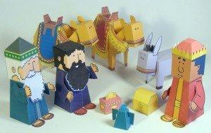 Manuelidades de los reyes magos - Bible Paper Toys