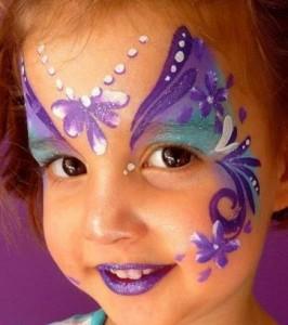 Maquillaje infantil y pintacaras para niños de hadas
