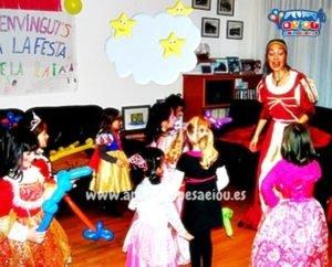 Fiestas de cumpleaños infantiles temáticas de princesas en Madrid