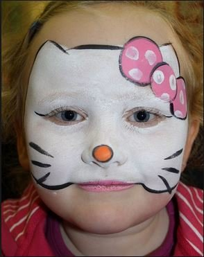 Maquillaje infantil de Hello Kitty