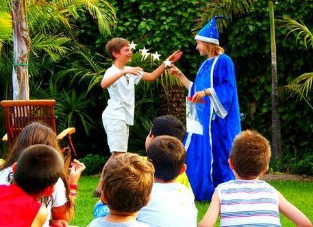 Animadores, magos y payasos en El Escorial
